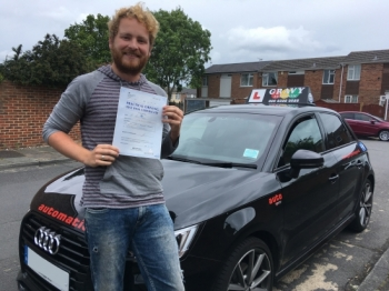 Having passed first time with just two minor driving faults, I would recommend Gravy Driving School - perfect for nervous / anxious drivers. Brilliant personality!!!